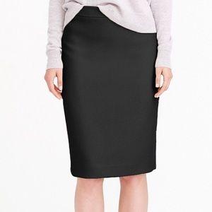 NWT J. CREW No. 2 Pencil Skirt Black Bi Stretch